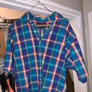 Plaid polo shirt